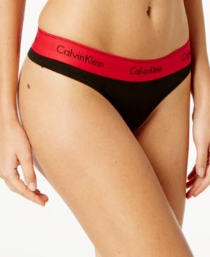 596a1da313ed Calvin Klein Modern Cotton Thong F3786 In Black With Empower | ModeSens