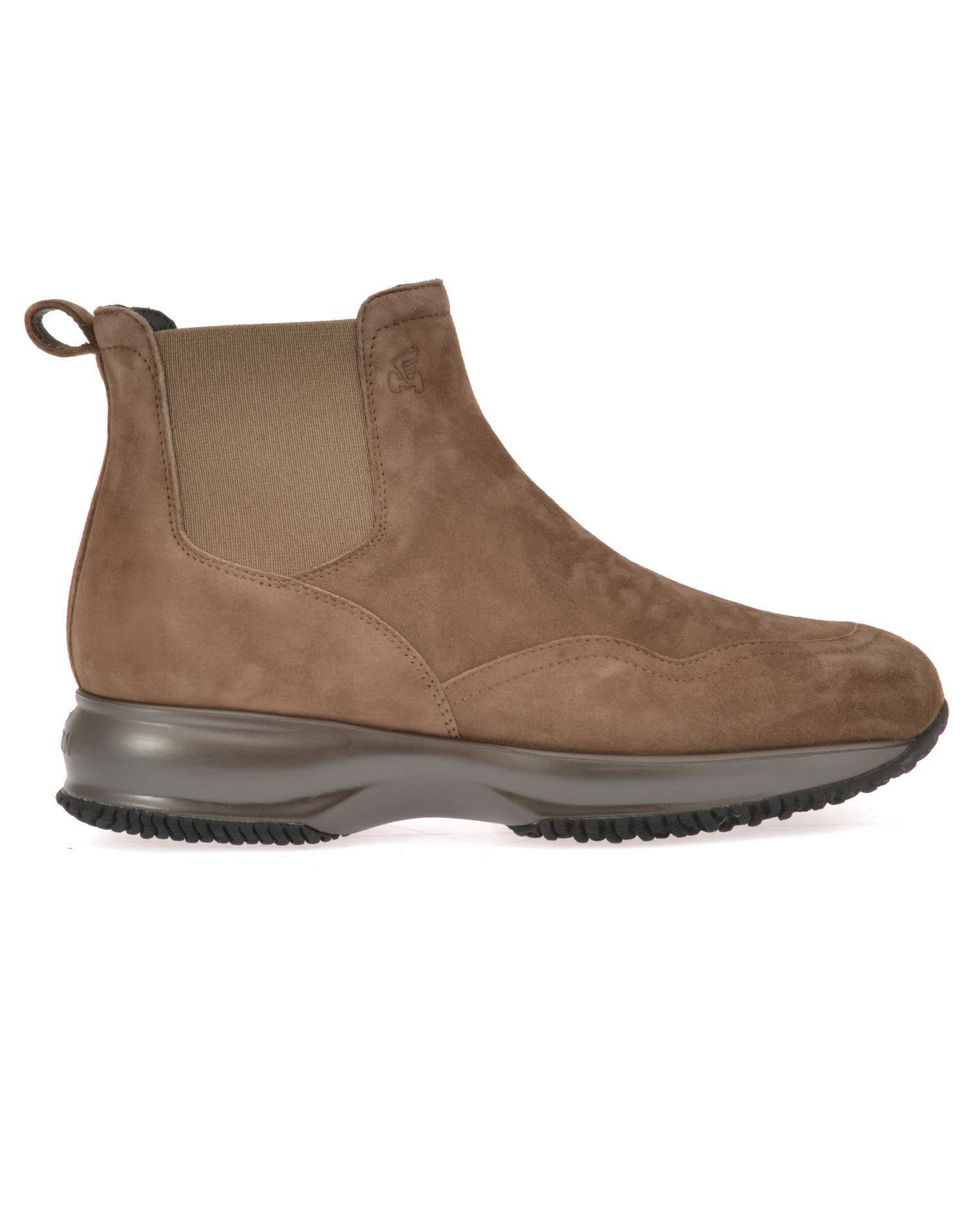 Hogan Interactive Chelsea Suede Boots In Brown