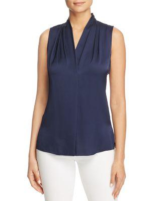 a6ec4e94b5985 Kobi Halperin Mila Pleat Silk Blouse In Midnight