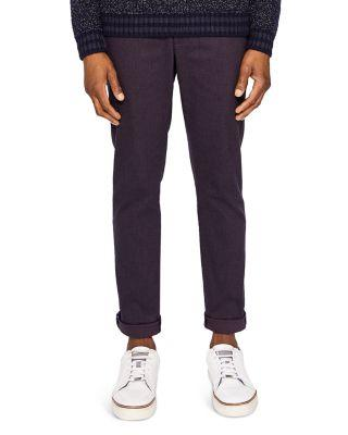 Ted Baker Maxchi Slim Fit Textured Dress Pants In Purple
