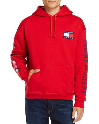 66e4d51e Tommy Hilfiger Tommy Jeans 90's Logo Hooded Sweatshirt In Salsa ...
