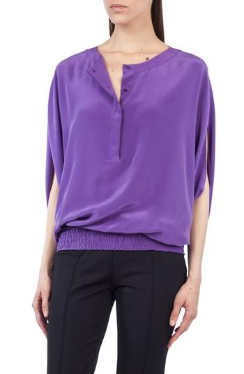 d1aa29062f7039 Akris Punto Batwing Silk Blouse In Purple
