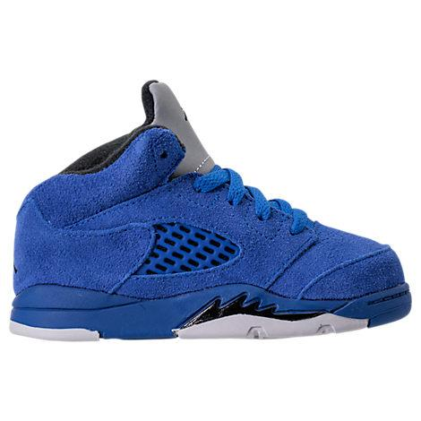 designer fashion 770f8 dff66 Boys' Toddler Air Jordan Retro 5 Basketball Shoes, Blue