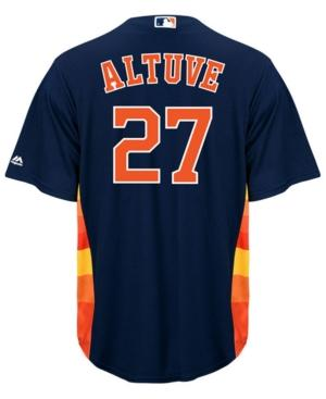 Majestic Men's Jose Altuve Houston Astros Player Replica Cool Base Jersey In Navy
