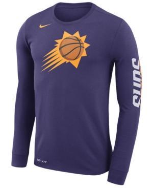 4ccaa51e Nike Men's Phoenix Suns Dri-Fit Cotton Logo Long Sleeve T-Shirt In Purple