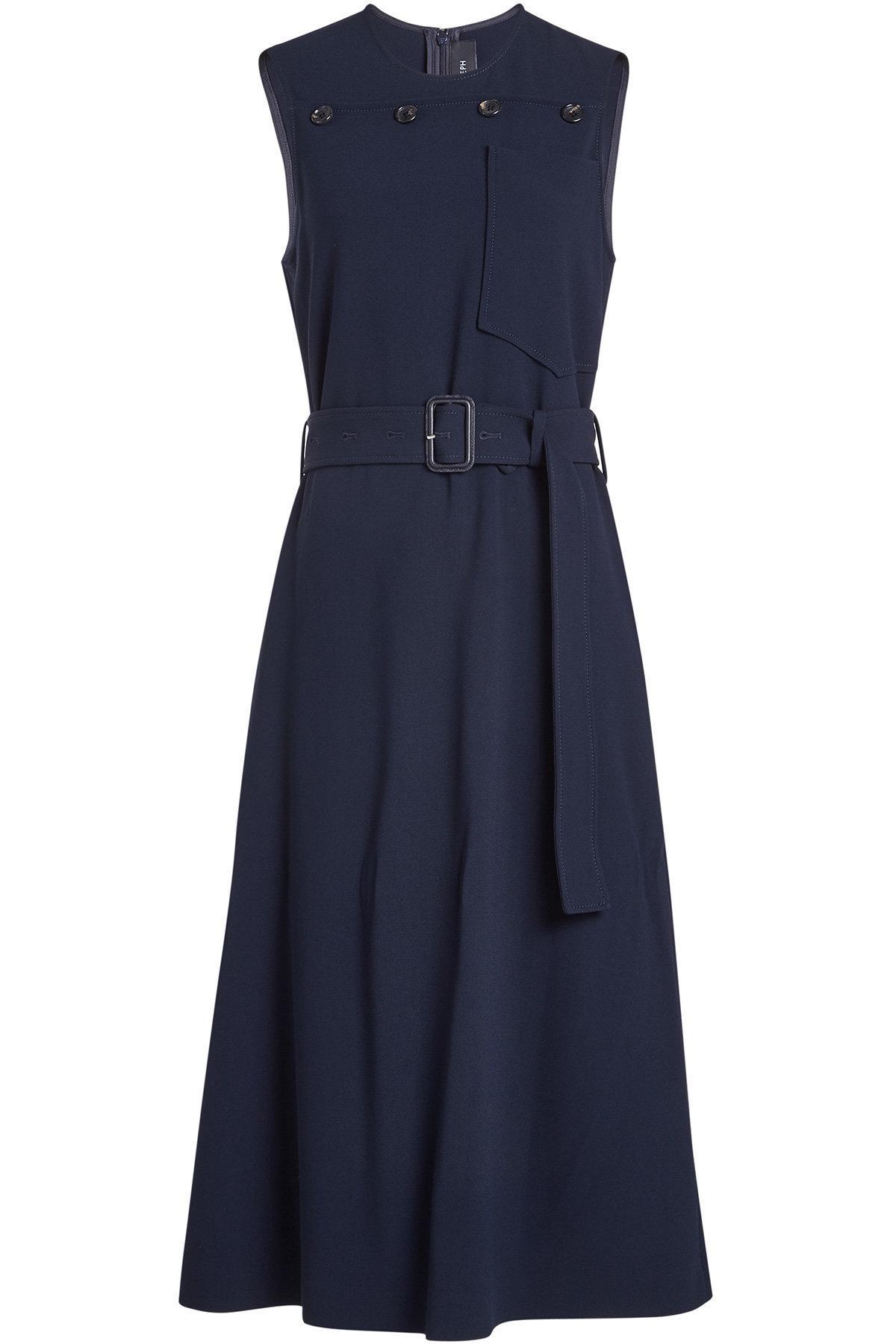 Joseph Dress With Belt In Blue