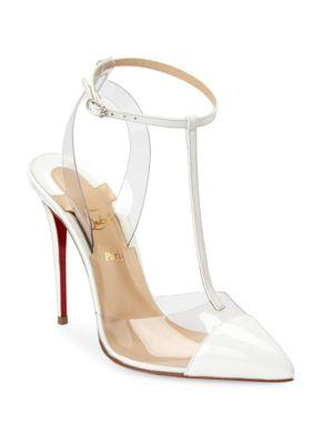 3a02aa6361d Nosy 100 Patent-Leather And Pvc T-Bar Pumps in White