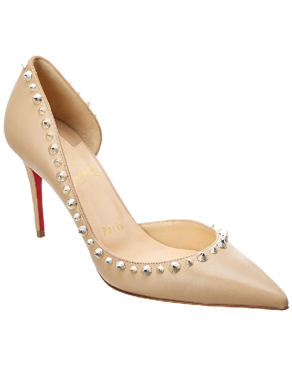 b2488059a11b Christian Louboutin Irishell 85 Nappa Leather D Orsay Pumps In Beige ...
