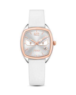 Fendi Momento Bugs Watch, 31.5mm In Silver