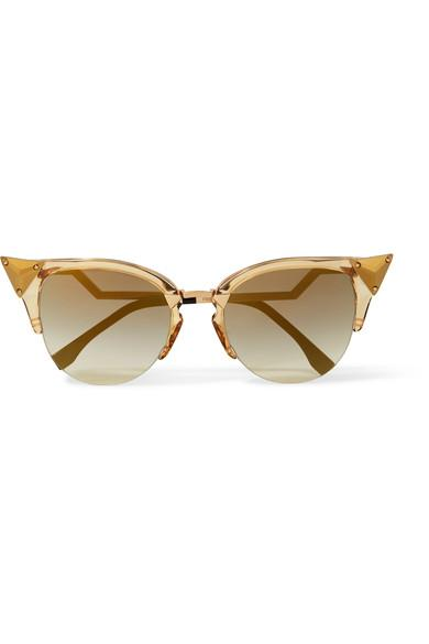 c331f6f7f Fendi Embellished Cat-Eye Gold-Tone And Acetate Sunglasses | ModeSens