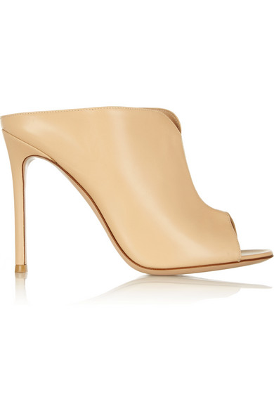 Gianvito Rossi Woman Leather Mules Beige In Neutrals