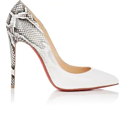 019cf4b0b99b CHRISTIAN LOUBOUTIN. Pigalle Follies Ombre Snake-Print Red Sole Pump ...