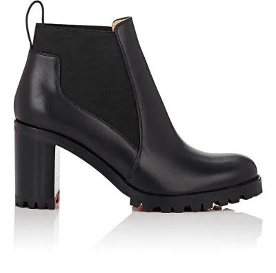 e9d2f667189a9 Christian Louboutin Marchacroche Leather Red Sole Booties In Black ...