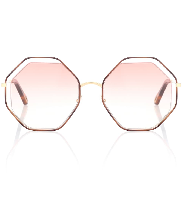 ChloÉ Women's Poppy Geometric Octagonal Sunglasses, 58mm In Pink