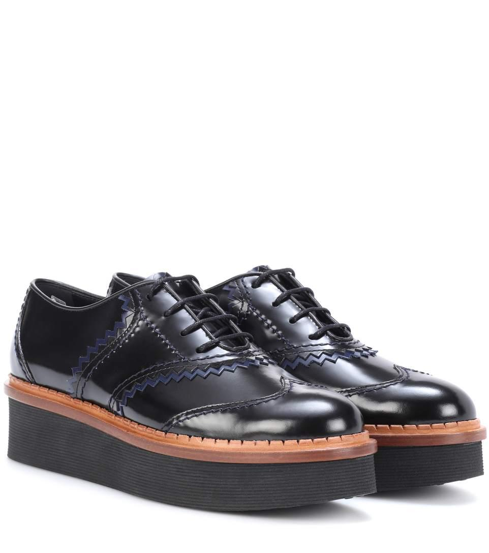 1b10fb9325c8 Tod s Platform Leather Oxford Shoes In Black