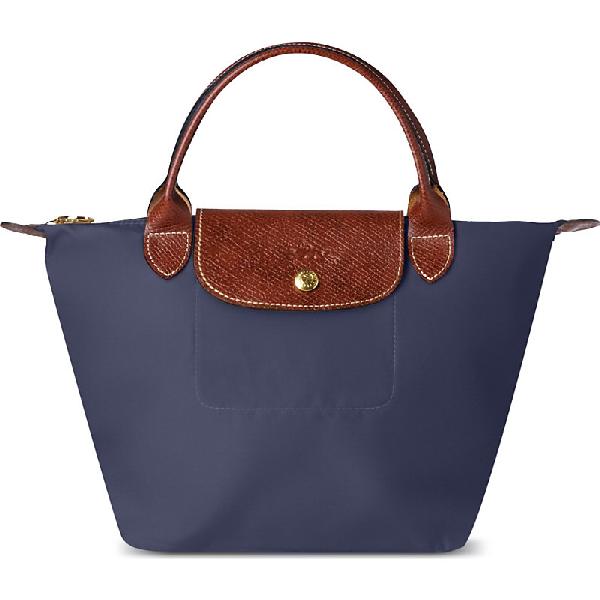 0dd53395ddd Longchamp Le Pliage Medium Handbag In Navy | ModeSens