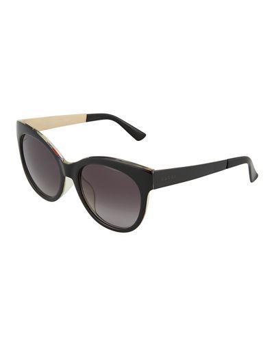 Gucci Round Optyl® Acetate Sunglasses In Black Pattern