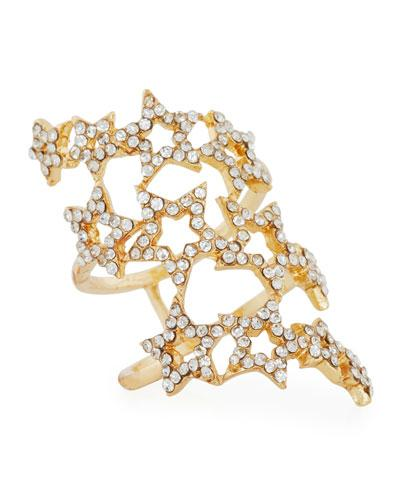 Romeo & Juliet Couture Three-row Pavé Star Ring In Gold