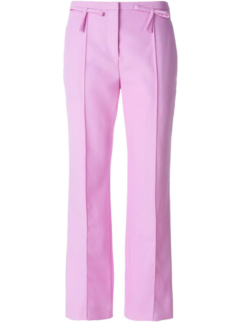 Valentino Bow Detailed Straight-leg Trousers