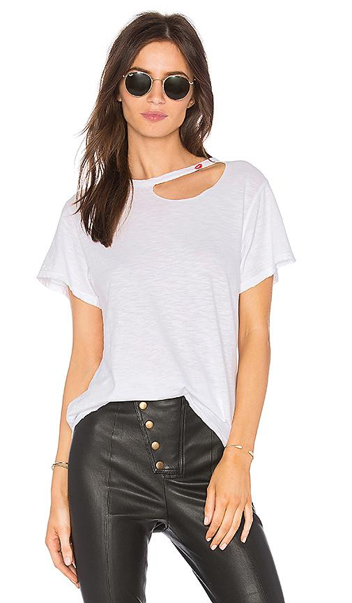 Lna Kissed Cutout Tee In White