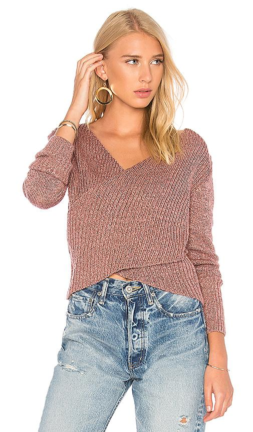 C/meo Collective Feature Knit Top In Pink