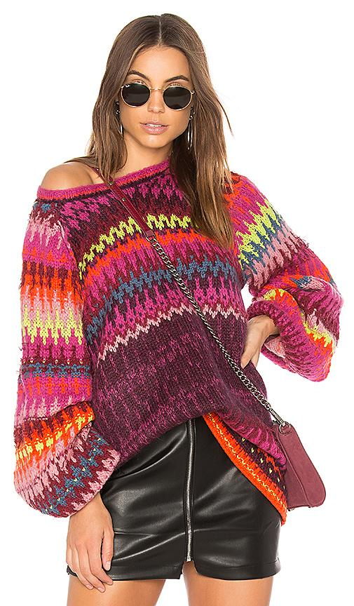 Free People Castles In The Sky Sweater In Pink