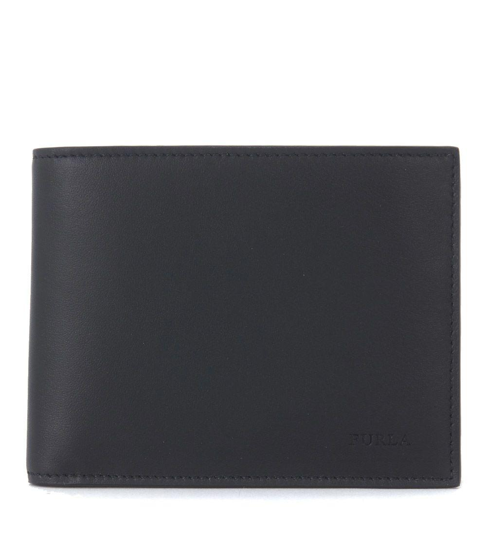 Furla Apollo Black Smooth Leather Wallet In Nero