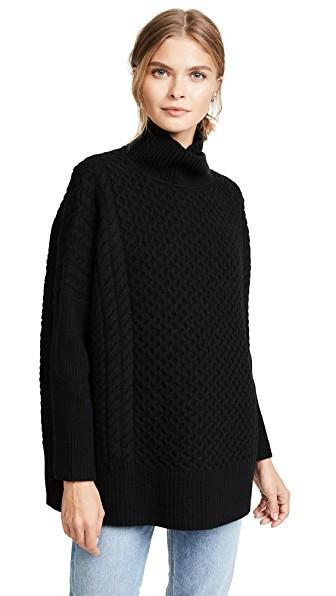 Ayr Le Square Sweater In Black