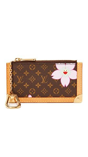 Louis Vuitton Lv Murakami A Pouchette Clefs Coin Pouch (previously Owned) In Brown