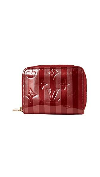 Louis Vuitton Rayures Zippy Coin Purse (previously Owned) In Red