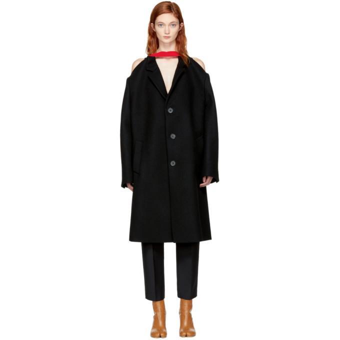 Maison Margiela Black Original British Felt Coat