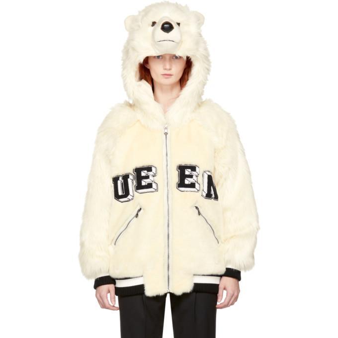 Dolce & Gabbana Off-white Queen Polar Bear Jacket