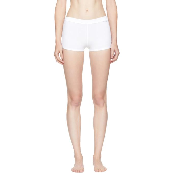 Calvin Klein 205w39nyc White Ribbed Boy Shorts