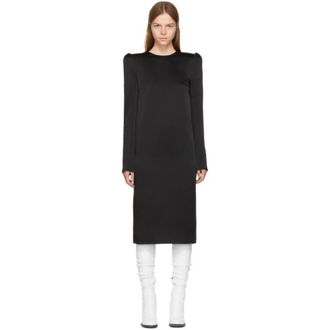 Haider Ackermann Black Moon Shape Shoulder Dress