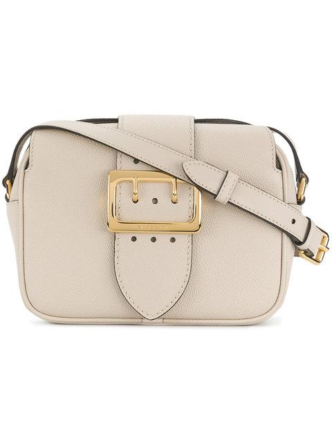 Burberry Small Leather Shoulder Bag In Beige