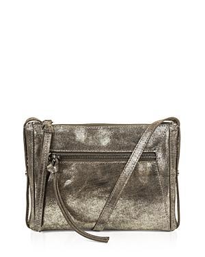 Kooba Marlowe Metallic Mini Leather Crossbody In Gunmetal/silver
