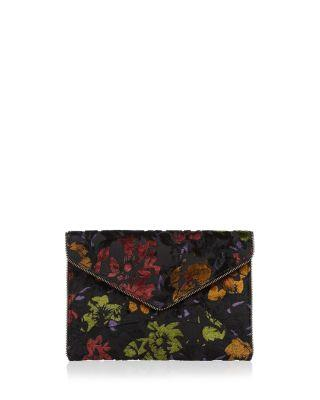 Rebecca Minkoff Leo Floral Velvet Clutch In Floral Multi/gold