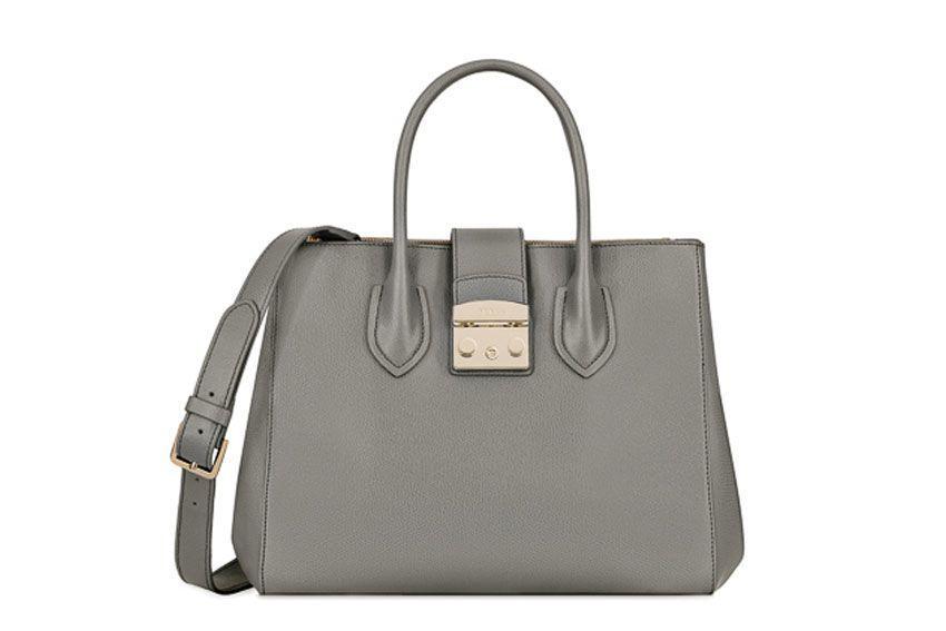 Furla Metropolis M Bag In Grey