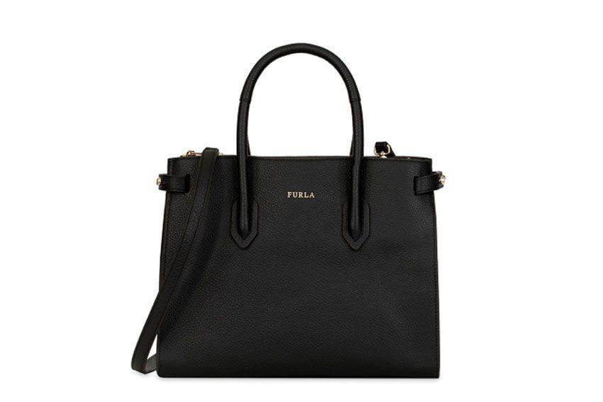 Furla Pin S Bag In Black