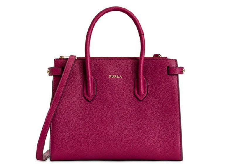 Furla Pin S Bag In Red
