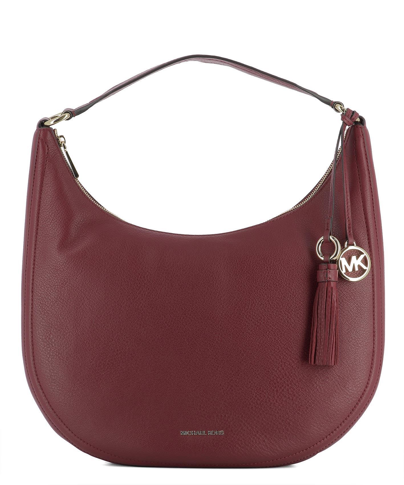 Michael Michael Kors Red Leather Shoulder Bag