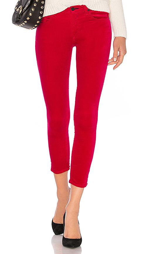 Rag & Bone High-rise Ankle Skinny Jeans In Fuchsia