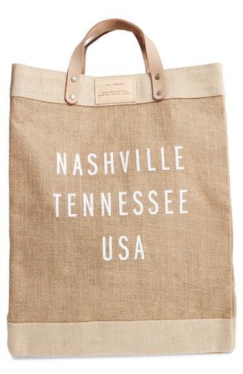 Apolis Market Bag - Beige In Nashville