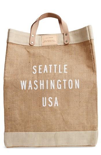 Apolis Market Bag - Beige In Seattle