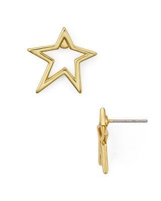 Rebecca Minkoff Star Stud Earrings In Gold