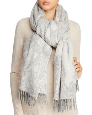 Max Mara Cashmere Scarf In Light Grey