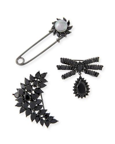 Fallon Monarch Crystal Pin Set In Silver