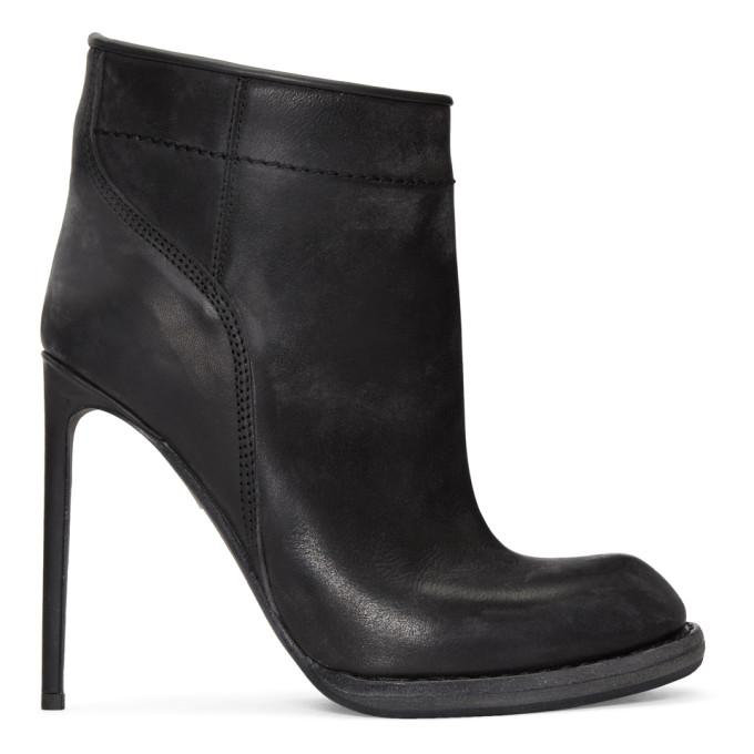 Haider Ackermann Black Heeled Ankle Boots In 099 Black