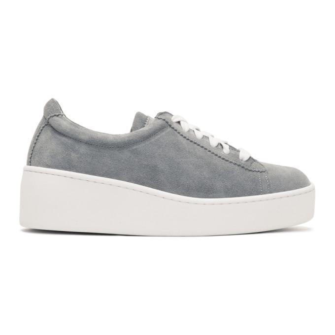 Robert Clergerie Grey Suede Tasket Sneakers