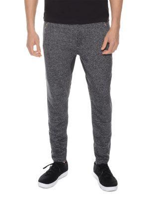 2(x)ist Terry Zip Cuff Lounge Sweatpants In Black Heather